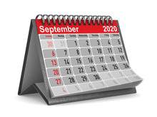 2020 Year. Calendar For Septem...