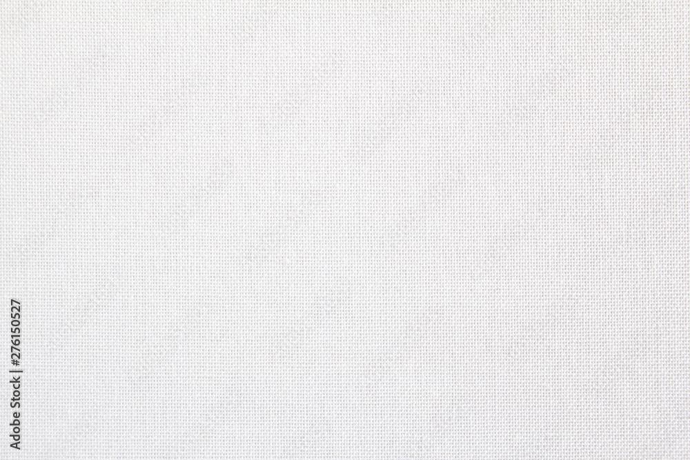 Fototapeta Closeup white blank linen textile texture background.