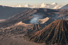 Mount Volcano An Active With S...