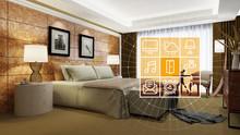 Elegantes Hotelzimmer Mit Smart Home Steuerung