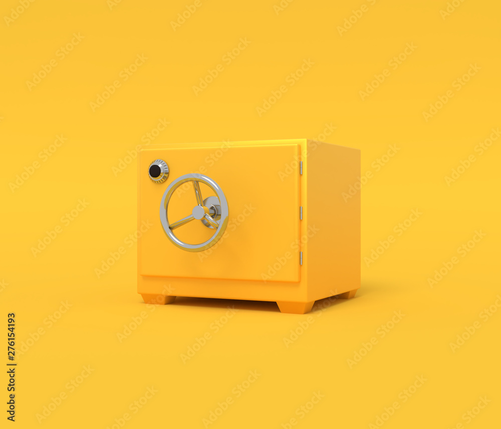 Fototapety, obrazy: Vintage safe deposit. Illustration with empty place for text. 3D rendering