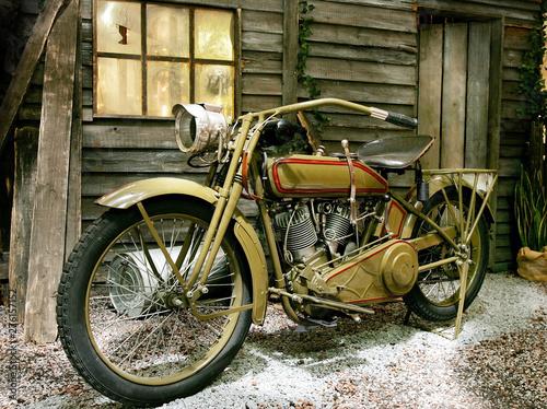 Plakaty rowery  zabytkowy-motocykl