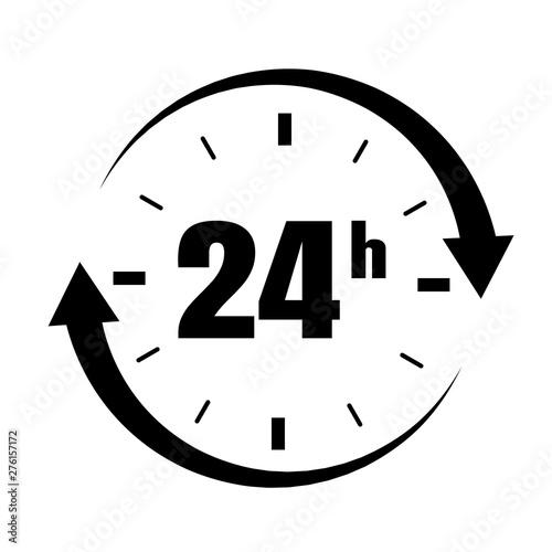 Vászonkép  Loop arrow icon symbol Open 24 hours.
