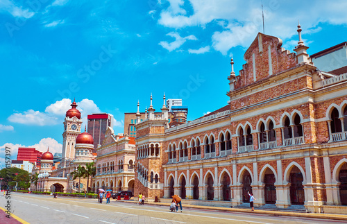 The Sultan Abdul Samad Building Canvas Print
