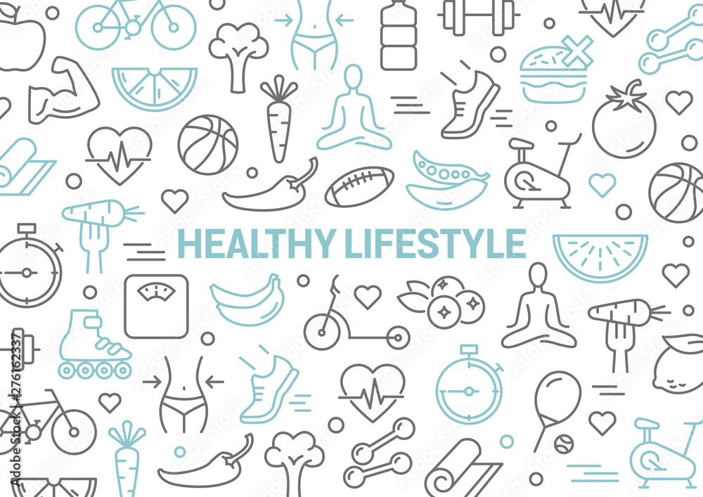 Fototapety, obrazy: Healthy Lifestyle Background