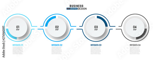 Fotografía  Timeline infographic design label with modern circle and number options