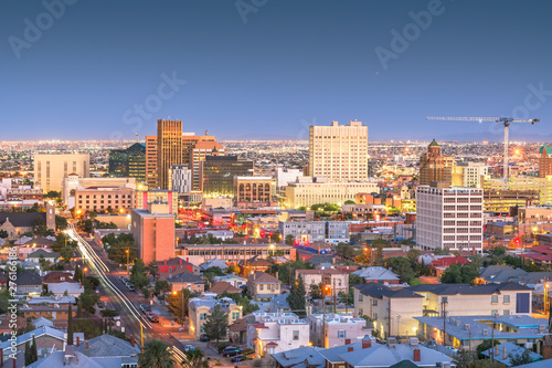 Foto  El Paso, Texas, USA Downtown Skyline