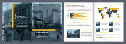 Obraz Brochure creative design. Report template and presentations. - fototapety do salonu