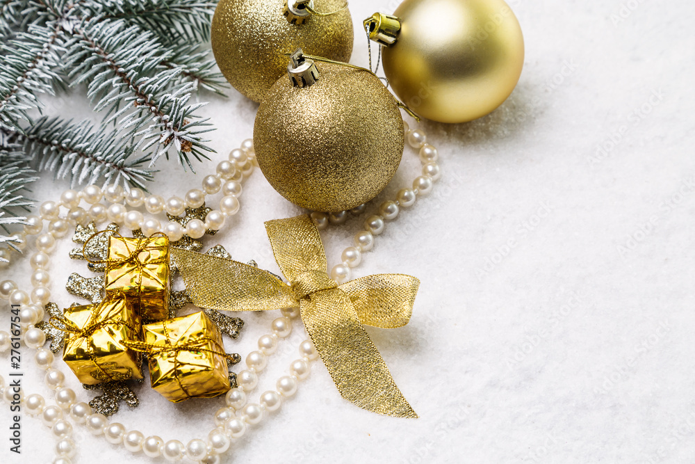 Fototapety, obrazy: Image with Christmas ornaments.