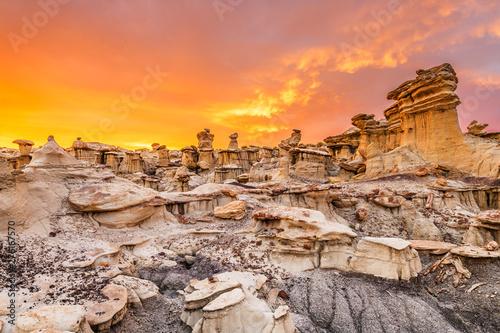 Obraz na plátně  Bisti/De-Na-Zin Wilderness, New Mexico, USA