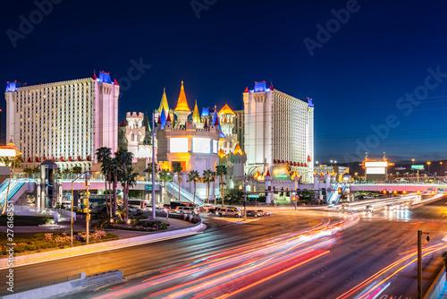 Photo  Las Vegas strip sunset