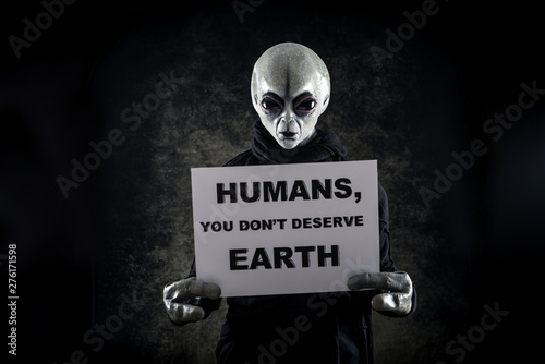 Alien creature has a message for humans Canvas Print