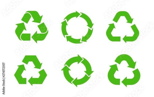 Obraz na plátně  Recycle icon vector. Recycle vector set symbols.