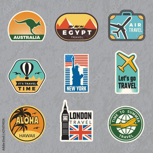Fototapeta Travel vintage sticker
