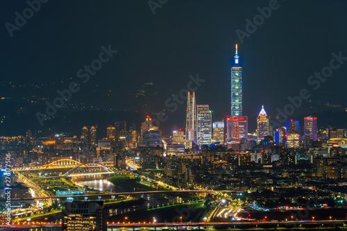 фотография  Aerial view of Taipei Downtown, Taiwan