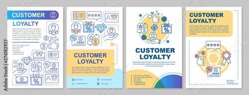 Fotomural  Referral customer loyalty brochure template layout