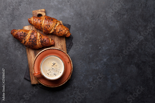 Tablou Canvas Coffee and croissant