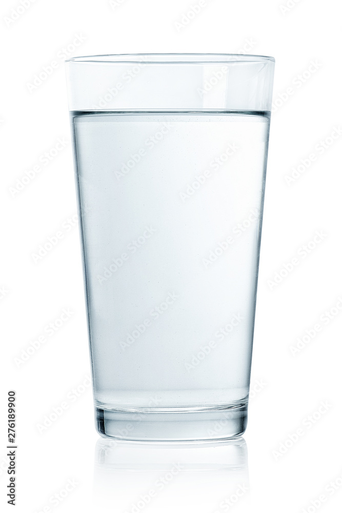 Fototapety, obrazy: Glass of still water on white background