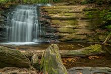 Waterfall In The North Georgia Mountains