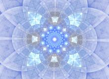 Kaleidoscope Abstract Sacred Geometry. Ethnic Fractal Artwork.