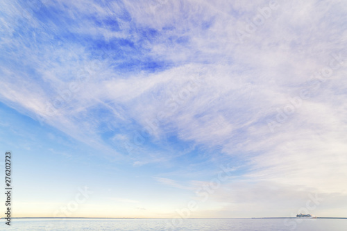 Obraz Sea panoramic cloudy landscape at sunrise - fototapety do salonu
