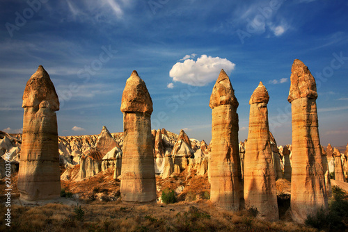 Fotografie, Tablou  The Love Valley in Cappadocia, famous for its rock formations in phallic shape