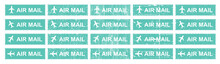 Airmail Stamping With Different Grungy Textured Vector