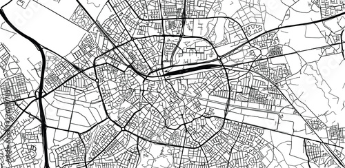 Canvas Print Urban vector city map of Eindhoven, The Netherlands
