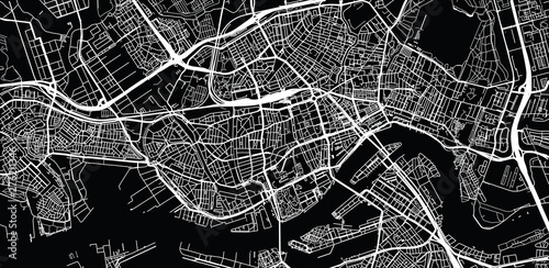 Photo Urban vector city map of Rotterdam, The Netherlands