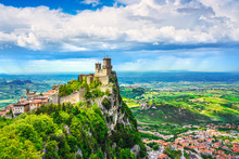 San Marino, Medieval Tower On ...