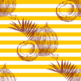 Seamless pattern with hand drawn coconuts - 276212529
