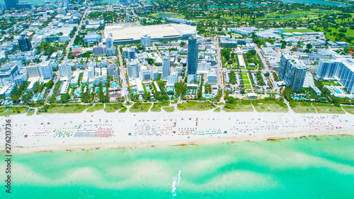 Wall Murals Green coral Aerial view city Miami Beach. South Beach. Florida. USA.