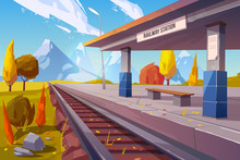 Railway Station At Mountains A...