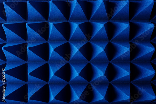 Foto  Hybrid pyramidal RF absorbers close up