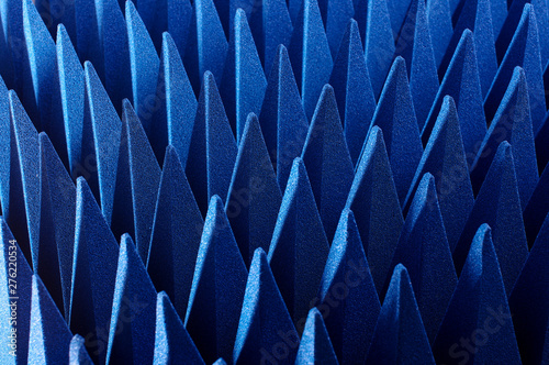 Hybrid pyramidal RF absorbers close up Wallpaper Mural