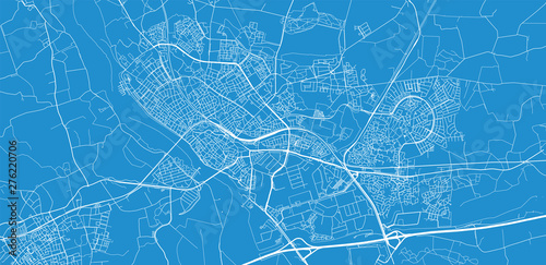 Urban vector city map of Deventer, The Netherlands Wallpaper Mural