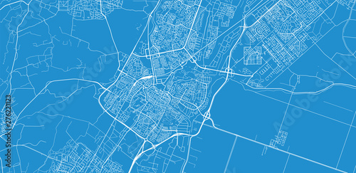 Urban vector city map of Alkmaar, The Netherlands Canvas Print