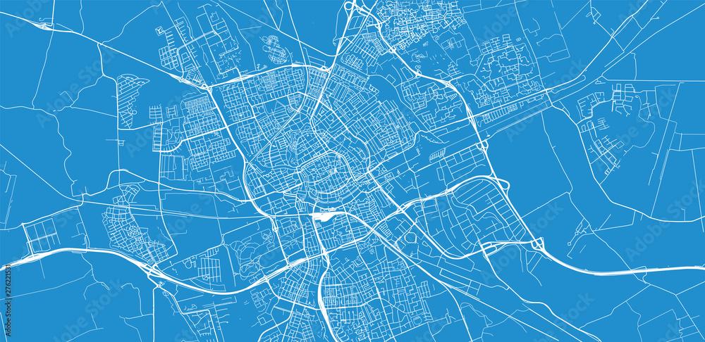Fototapety, obrazy: Urban vector city map of Groningen, The Netherlands