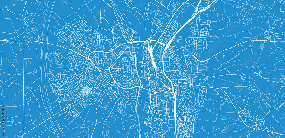 Fototapety, obrazy: Urban vector city map of Maastricht, The Netherlands