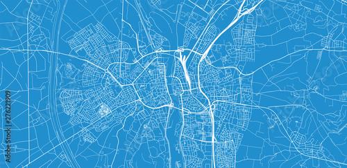 Obraz na plátně Urban vector city map of Maastricht, The Netherlands