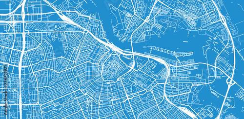 Fotografía  Urban vector city map of Amsterdam, The Netherlands