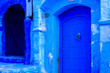 canvas print picture - Chefchaouen, a city with blue painted houses. A city with narrow, beautiful, blue streets.