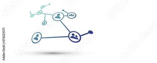 Valokuvatapetti rete, intrecciata, persone, condivisioni, network, tecnologia,