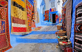 Fototapeta Fototapety na drzwi - Typical beautiful moroccan architecture in Chefchaouen blue city medina in Morocco