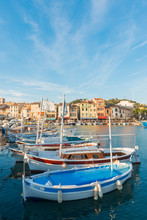 Boats In Cassis Harbour, Bouches Du Rhone, Provence, Provence-Alpes-Cote D'Azur, French Riviera, France, Mediterranean
