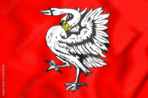 Valokuvatapetti 3D Flag of Stormarn (Schleswig-Holstein), Germany.