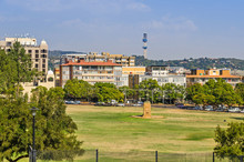 View Of Pretoria With Statue Of Louis Botha, Gardens, Sheraton Hotel And The John Vorster Tower