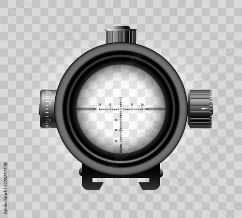 Pinturas sobre lienzo  Realistic sniper scope on transparent