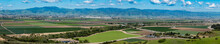 """Panorama Of Multiple Merged Images Of The Salinas Valley Of California, The """"salad Bowl Of The World"""",  Shot From The Fort Ord National Monument. The Gabilan Mountains Are In The Background."""