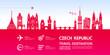 Czech Republic travel destination grand vector illustration.